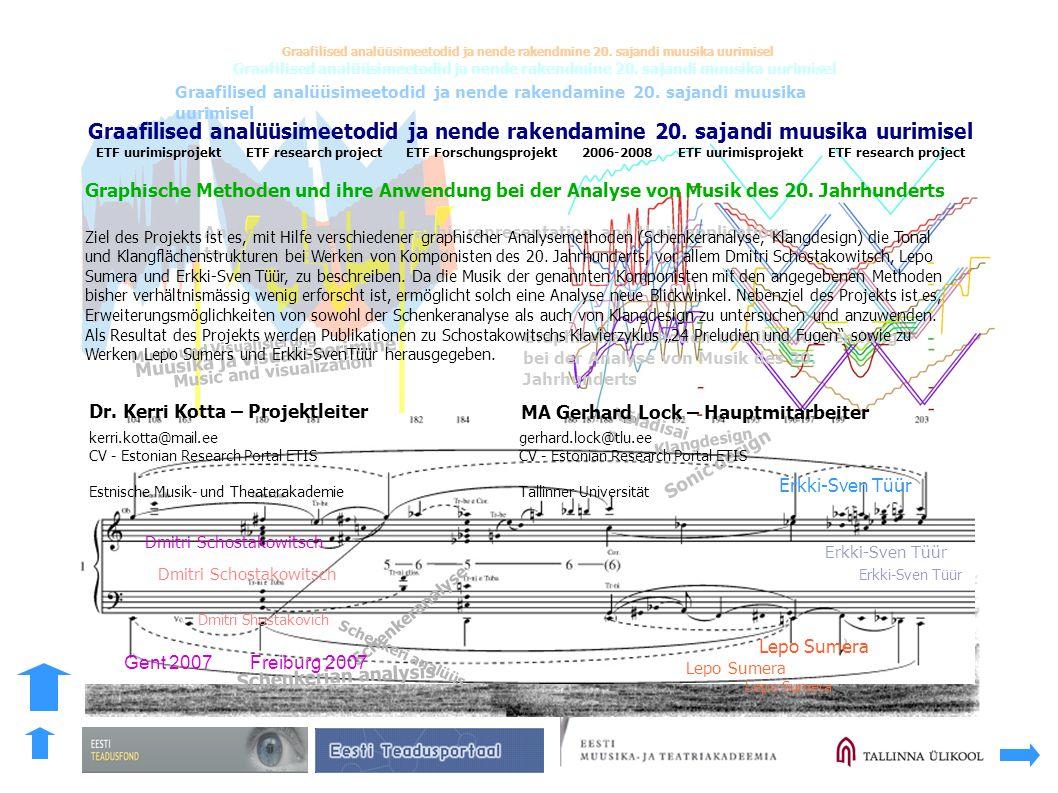 Graafilised analüüsimeetodid ja nende rakendamine 20. sajandi muusika uurimisel Graafilised analüüsimeetodid ja nende rakendmine 20. sajandi muusika u