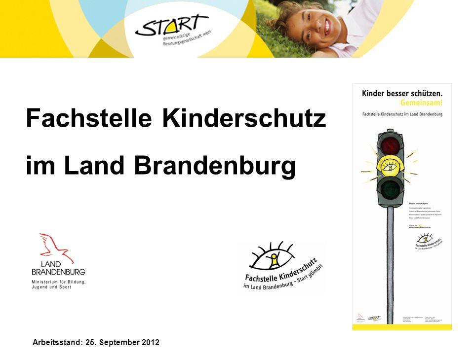 Fachstelle Kinderschutz im Land Brandenburg Arbeitsstand: 25. September 2012
