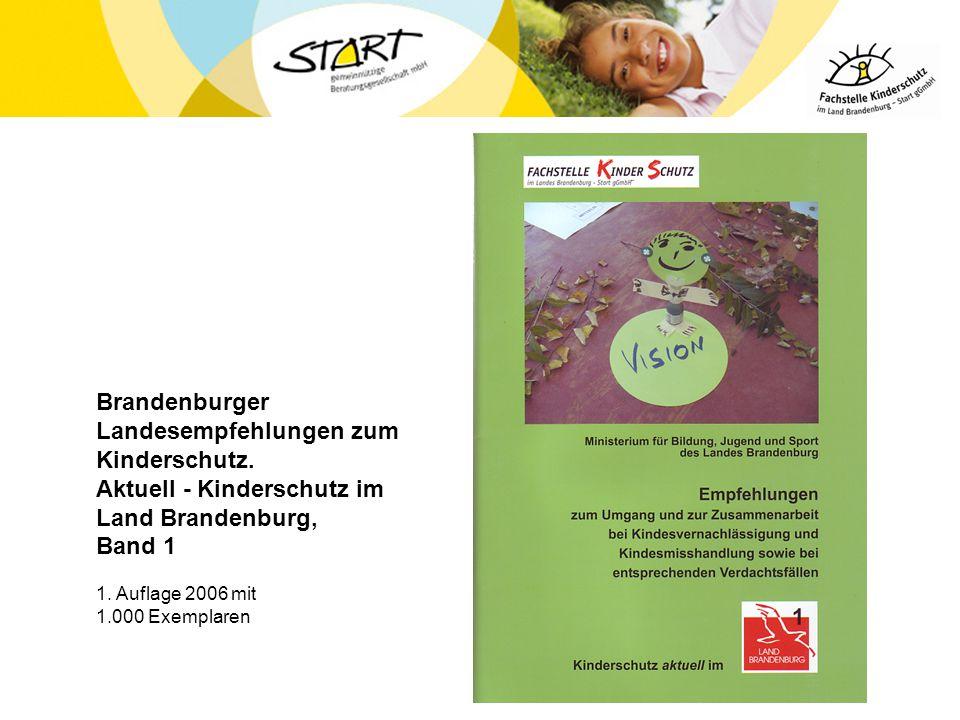 Brandenburger Landesempfehlungen zum Kinderschutz. Aktuell - Kinderschutz im Land Brandenburg, Band 1 1. Auflage 2006 mit 1.000 Exemplaren