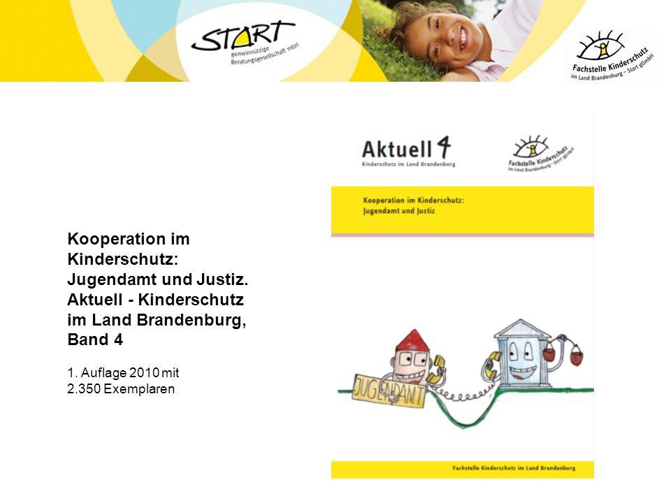 Kooperation im Kinderschutz: Jugendamt und Justiz. Aktuell - Kinderschutz im Land Brandenburg, Band 4 1. Auflage 2010 mit 2.350 Exemplaren