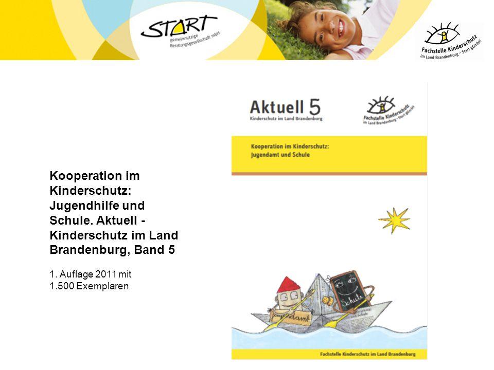 Kooperation im Kinderschutz: Jugendhilfe und Schule. Aktuell - Kinderschutz im Land Brandenburg, Band 5 1. Auflage 2011 mit 1.500 Exemplaren