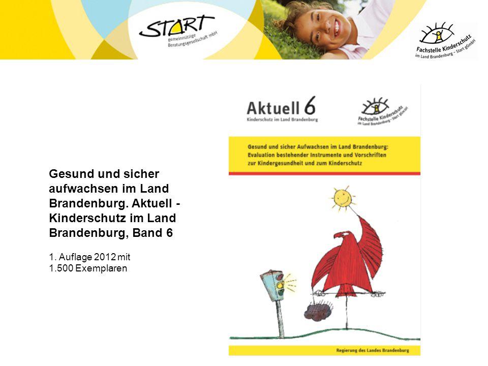 Gesund und sicher aufwachsen im Land Brandenburg. Aktuell - Kinderschutz im Land Brandenburg, Band 6 1. Auflage 2012 mit 1.500 Exemplaren
