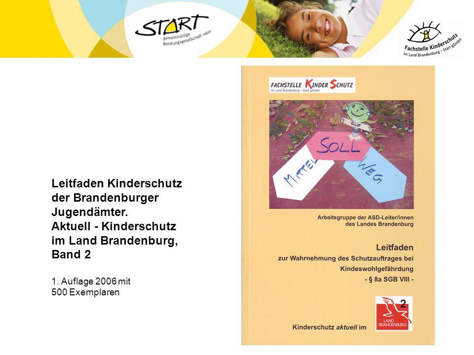 Leitfaden Kinderschutz der Brandenburger Jugendämter. Aktuell - Kinderschutz im Land Brandenburg, Band 2 1. Auflage 2006 mit 500 Exemplaren