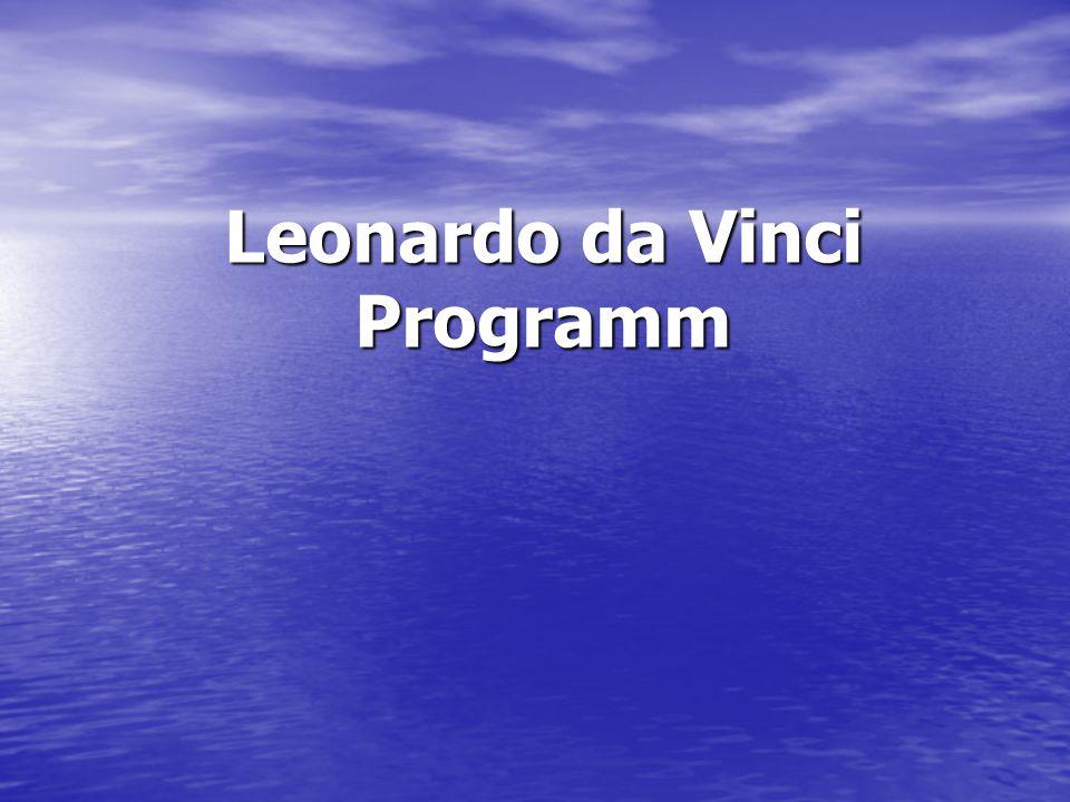 Das Leonardo da Vinci programm ist wurde in 1994 als Programm des Europäische Komitee für die Zusammenarbeit für die Fachaus- bildung gestartet.