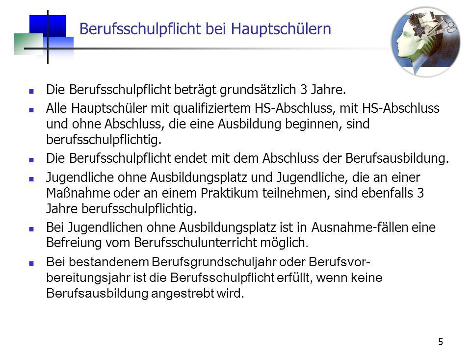 16 Berufsvorbereitungsjahr BVJ/k (neu) Stundentafel für die 10.