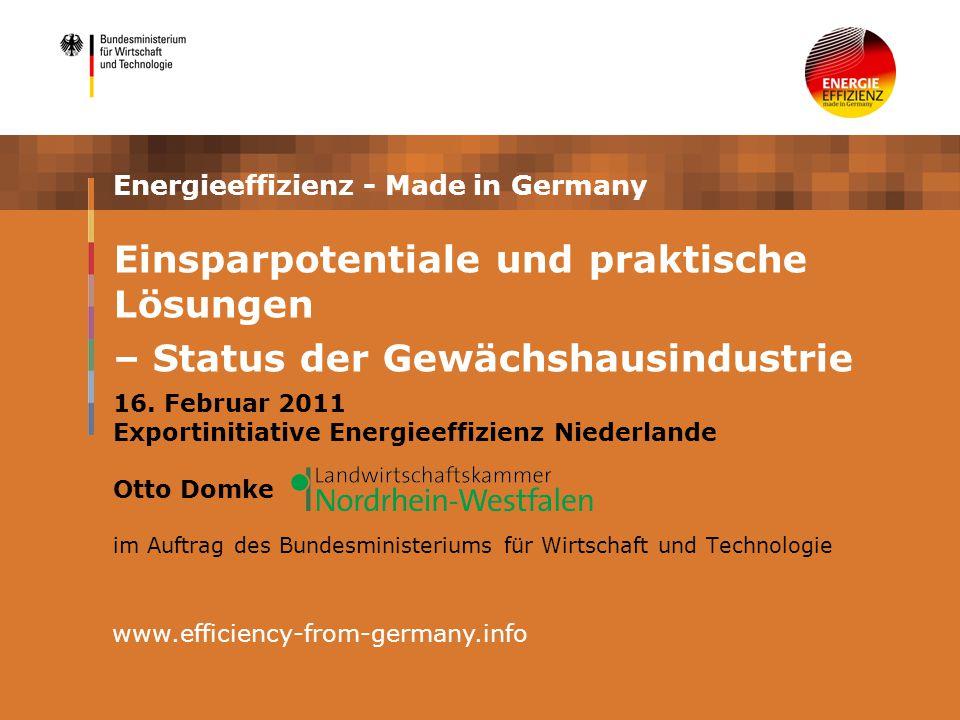 Energieeffizienz - Made in Germany 16.