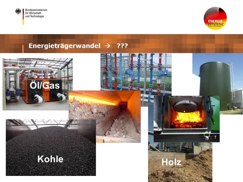 Holz Kohle Öl/Gas Energieträgerwandel