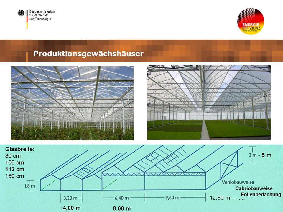 Produktionsgewächshäuser