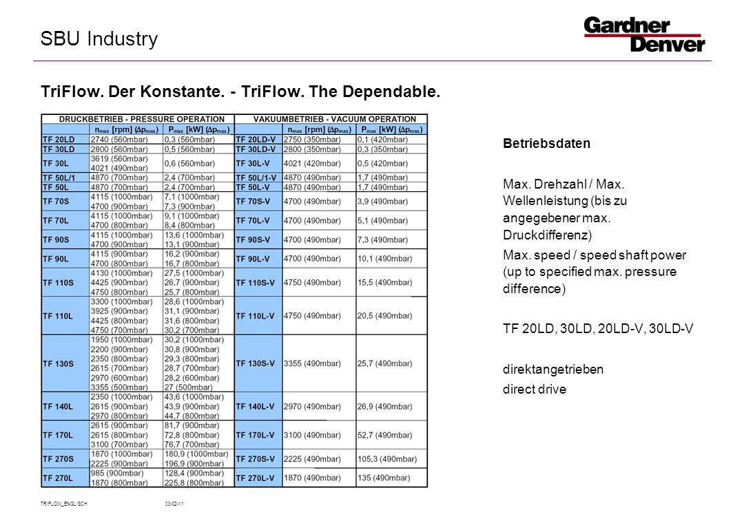 SBU Industry TRIFLOW_ENGLISCH 03-02-11 Betriebsdaten Max.