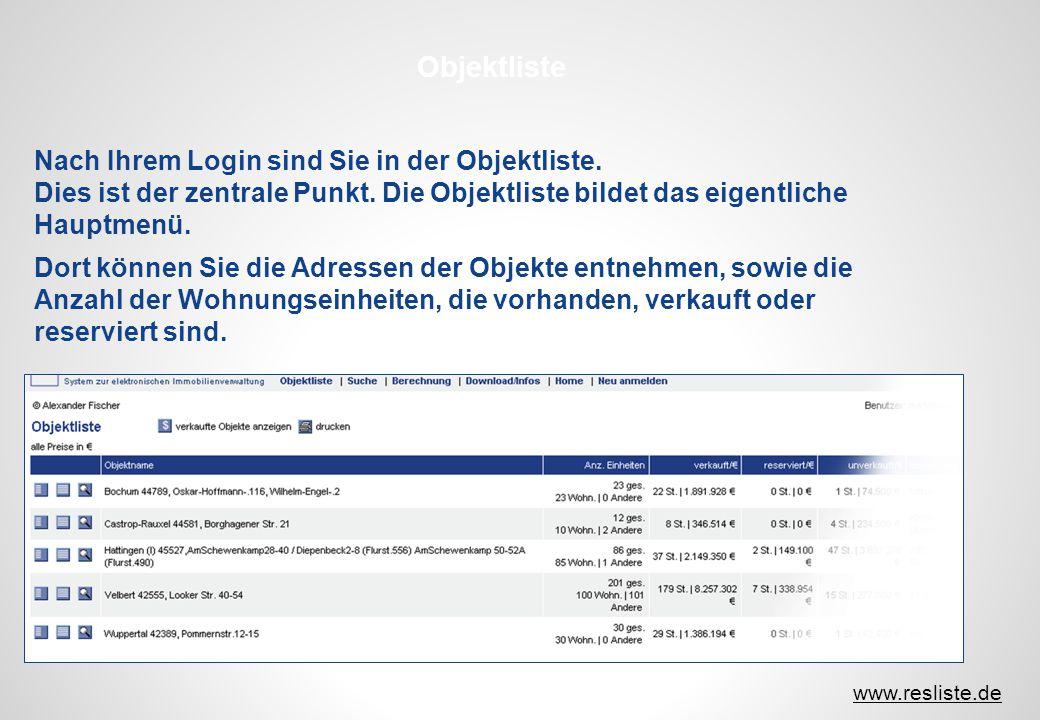 www.resliste.de Dies ist ein Beispielauflistung von Dokumenten der Kostenberechnung, die Sie dann als PDF erhalten.