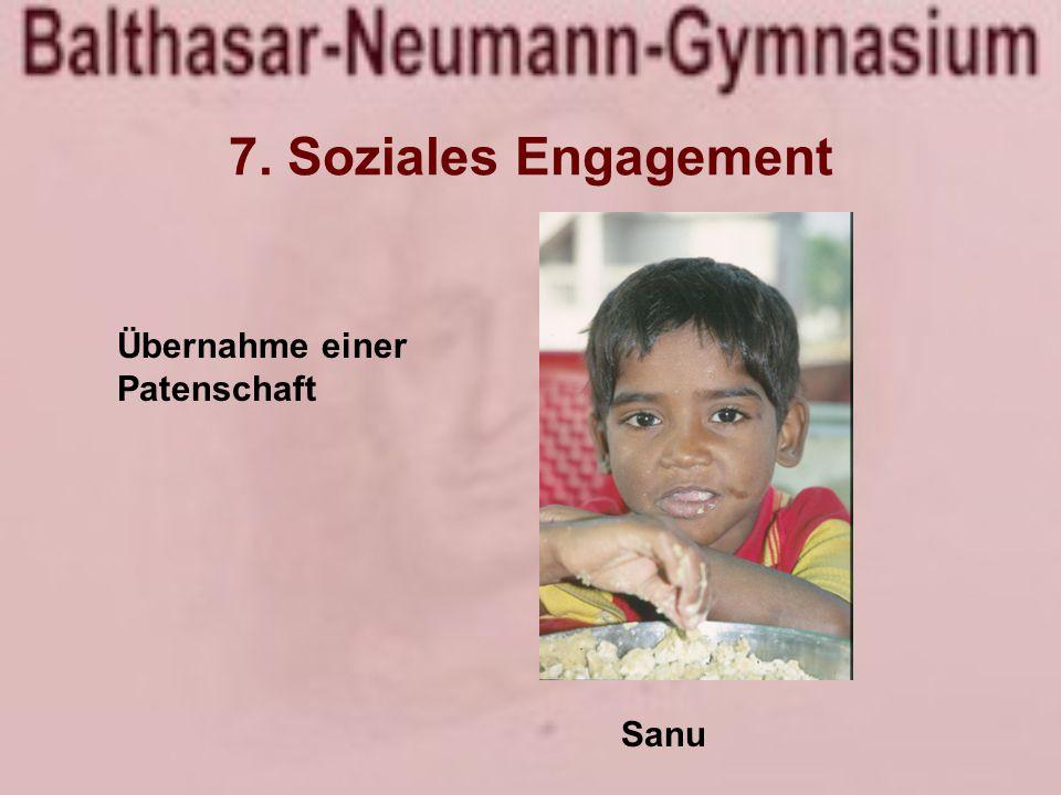 Übernahme einer Patenschaft Sanu 7. Soziales Engagement