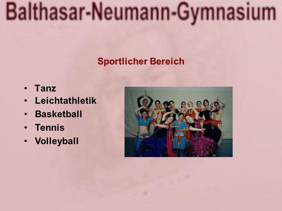 Sportlicher Bereich Tanz Leichtathletik Basketball Tennis Volleyball