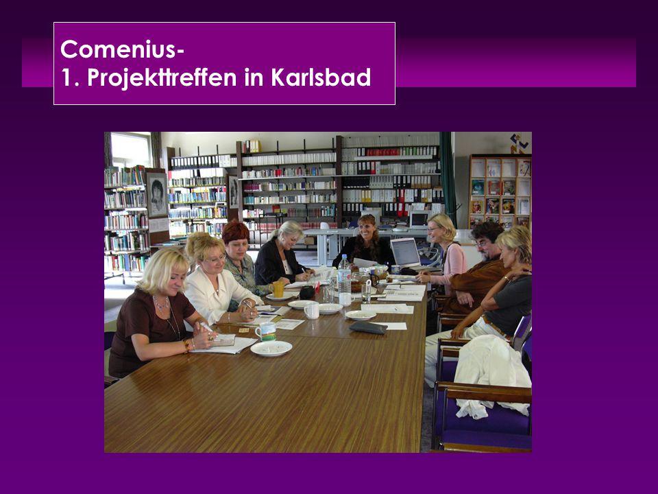 Comenius- 1. Projekttreffen in Karlsbad