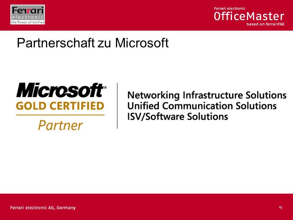 9 Partnerschaft zu Microsoft