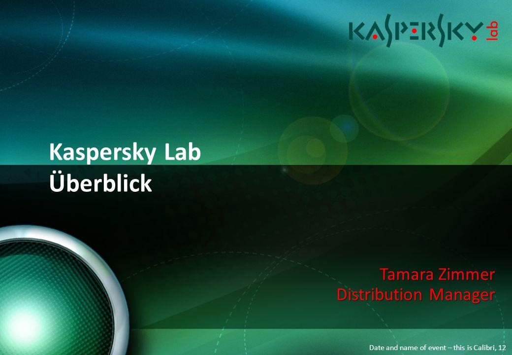 Kaspersky Lab - Unternehmensdaten Inhalt Kaspersky Lab – das Unternehmen Kaspersky Lab – das Unternehmen Produktportfolio Produktportfolio Partnerprogramm Partnerprogramm Ihre Vorteile als Kaspersky Partner Ihre Vorteile als Kaspersky Partner