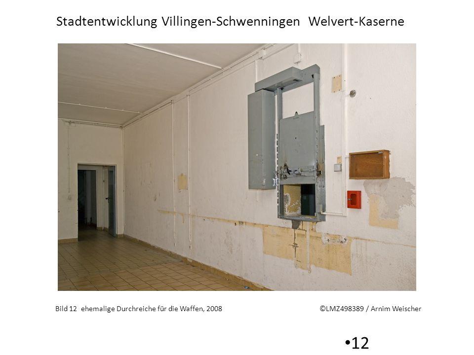 Stadtentwicklung Villingen-Schwenningen Welvert-Kaserne 12 Bild 12 ehemalige Durchreiche für die Waffen, 2008 ©LMZ498389 / Arnim Weischer