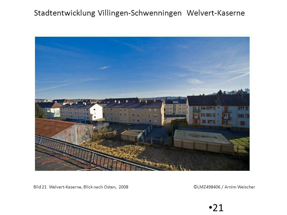 Stadtentwicklung Villingen-Schwenningen Welvert-Kaserne 21 Bild 21 Welvert-Kaserne, Blick nach Osten, 2008 ©LMZ498406 / Arnim Weischer
