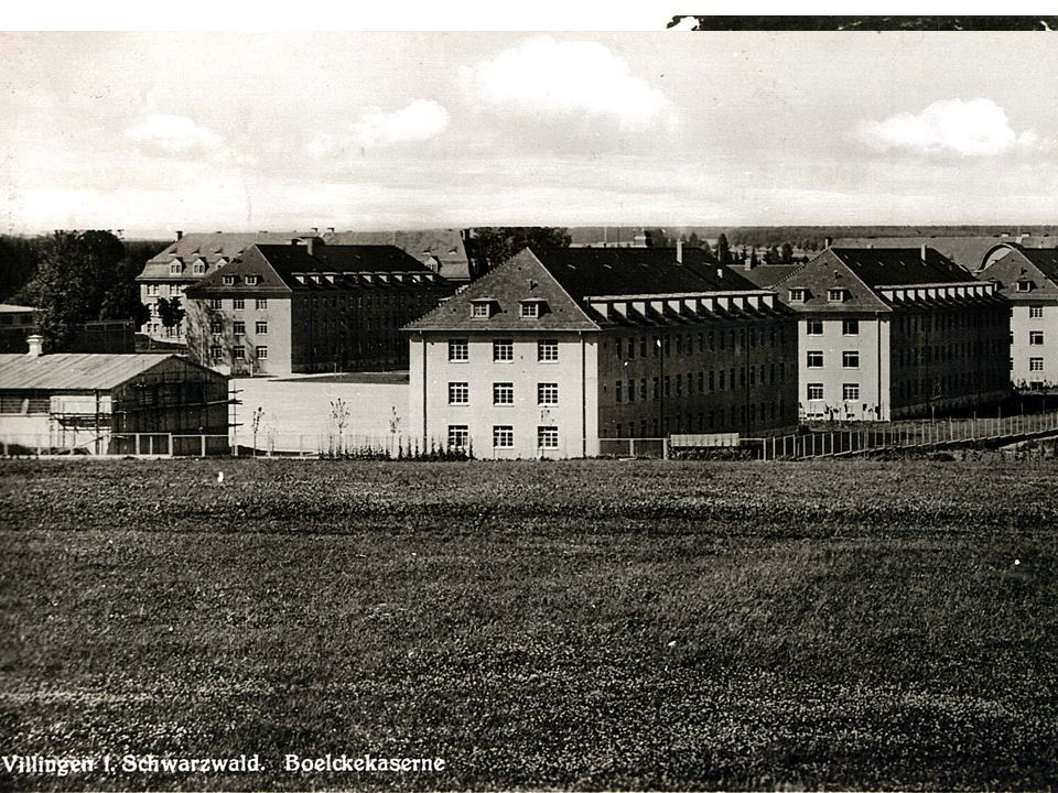 Stadtentwicklung Villingen-Schwenningen Welvert-Kaserne Die Boelcke-Kaserne Erbaut 1935/36