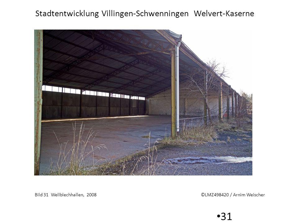 Stadtentwicklung Villingen-Schwenningen Welvert-Kaserne 31 Bild 31 Wellblechhallen, 2008 ©LMZ498420 / Arnim Weischer