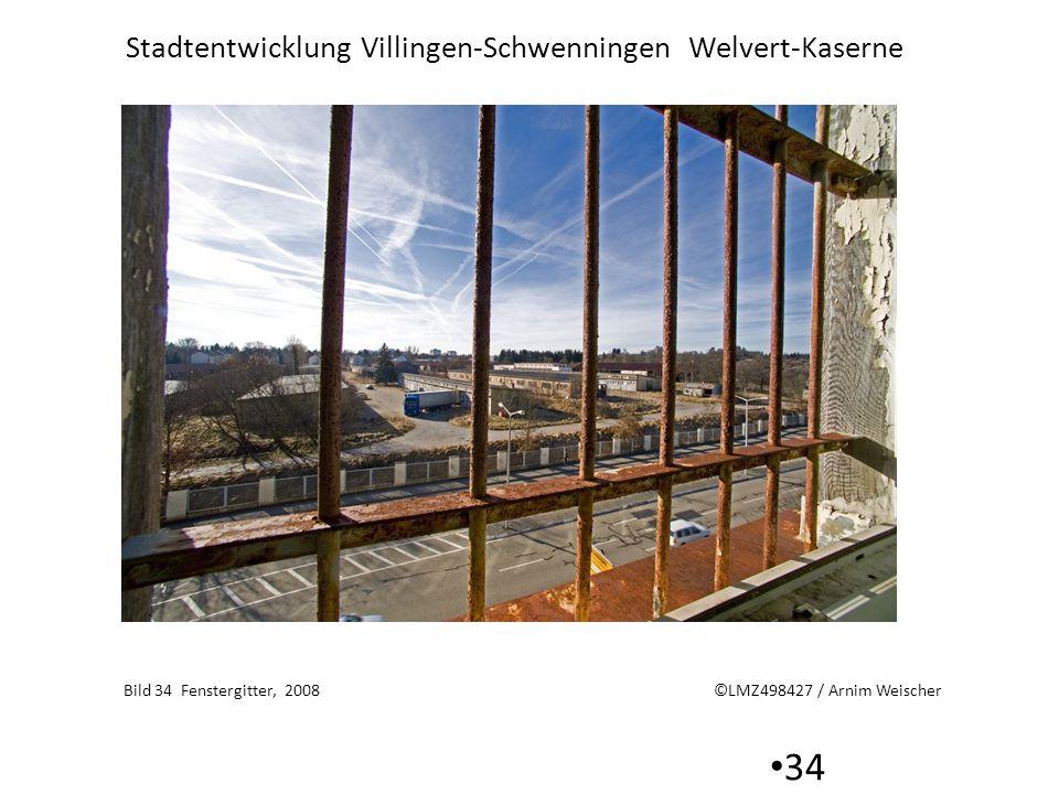 Stadtentwicklung Villingen-Schwenningen Welvert-Kaserne 34 Bild 34 Fenstergitter, 2008 ©LMZ498427 / Arnim Weischer