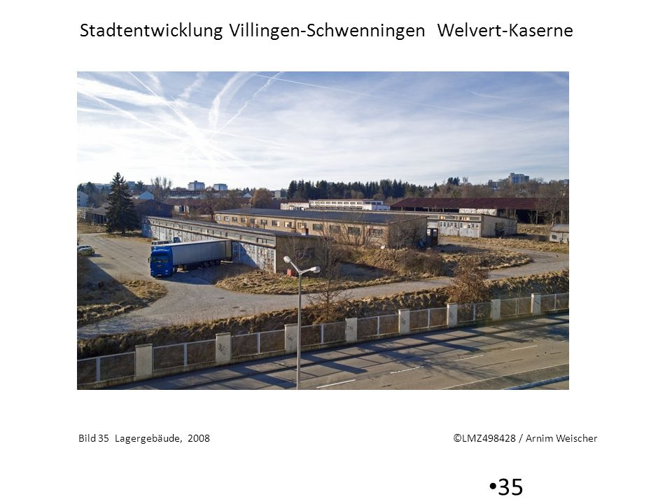 Stadtentwicklung Villingen-Schwenningen Welvert-Kaserne 35 Bild 35 Lagergebäude, 2008 ©LMZ498428 / Arnim Weischer