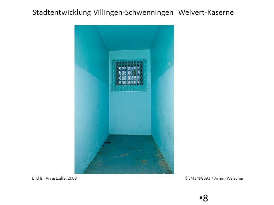 Stadtentwicklung Villingen-Schwenningen Welvert-Kaserne 9 Bild 9 Tür zur ehemaligen Arrestzelle ©LMZ498395 / Arnim Weischer