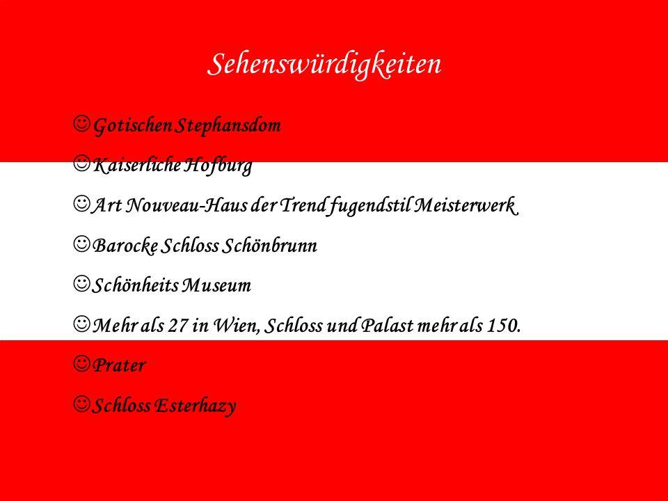 Sehenswürdigkeiten G otischen Stephansdom K aiserliche Hofburg A rt Nouveau-Haus der Trend fugendstil Meisterwerk B arocke Schloss Schönbrunn S chönhe