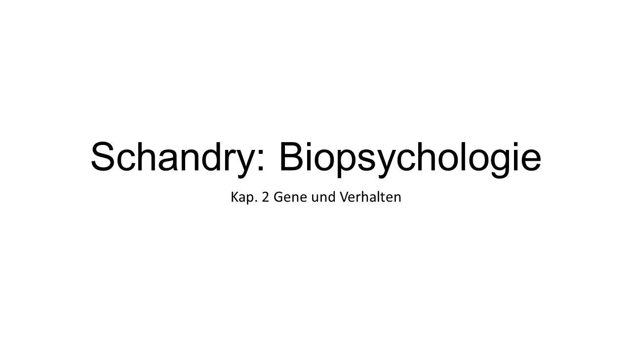 Schandry: Biopsychologie Kap. 2 Gene und Verhalten