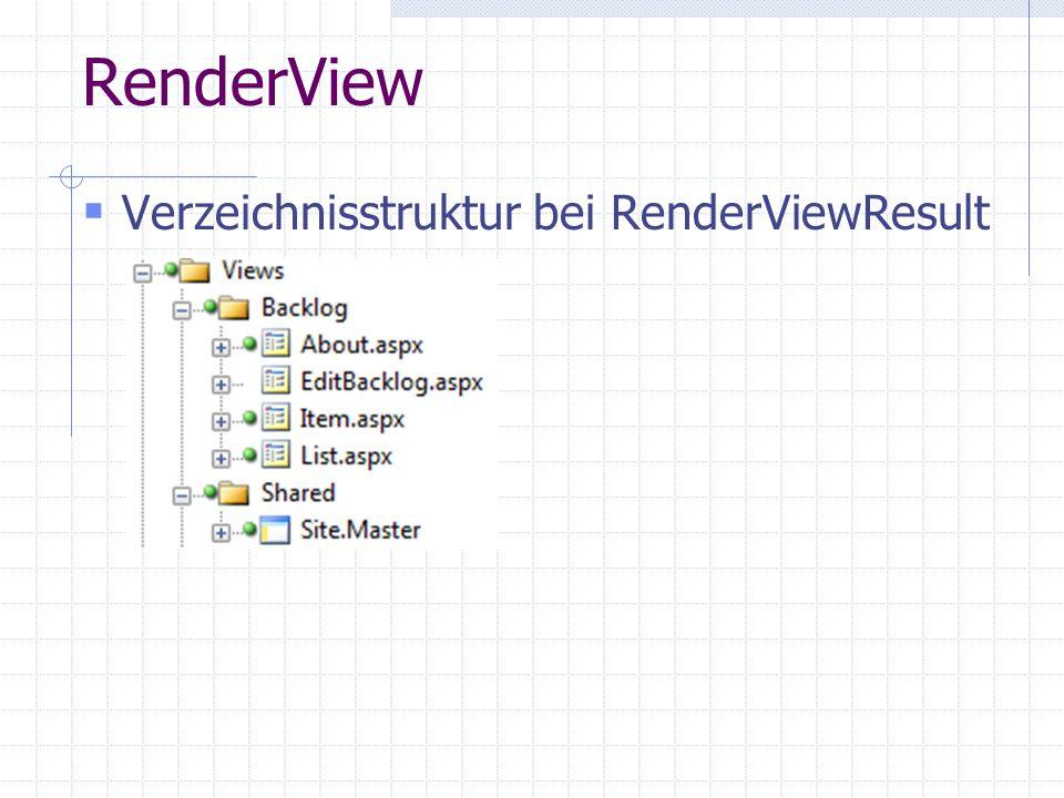 RenderView Verzeichnisstruktur bei RenderViewResult