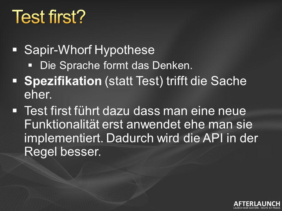 Sapir-Whorf Hypothese Die Sprache formt das Denken.