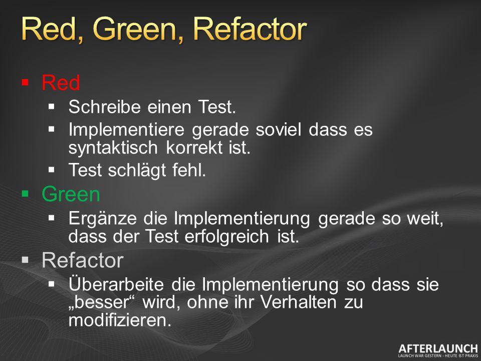 Red Schreibe einen Test. Implementiere gerade soviel dass es syntaktisch korrekt ist.