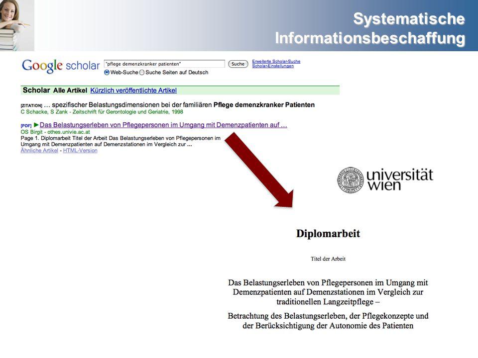 Systematische Informationsbeschaffung