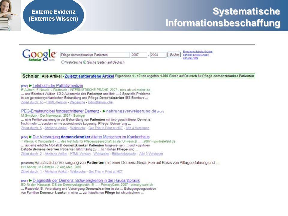 Externe Evidenz (Externes Wissen)