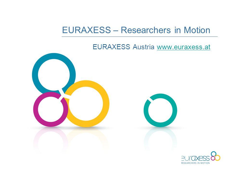 EURAXESS – Researchers in Motion EURAXESS Austria www.euraxess.atwww.euraxess.at