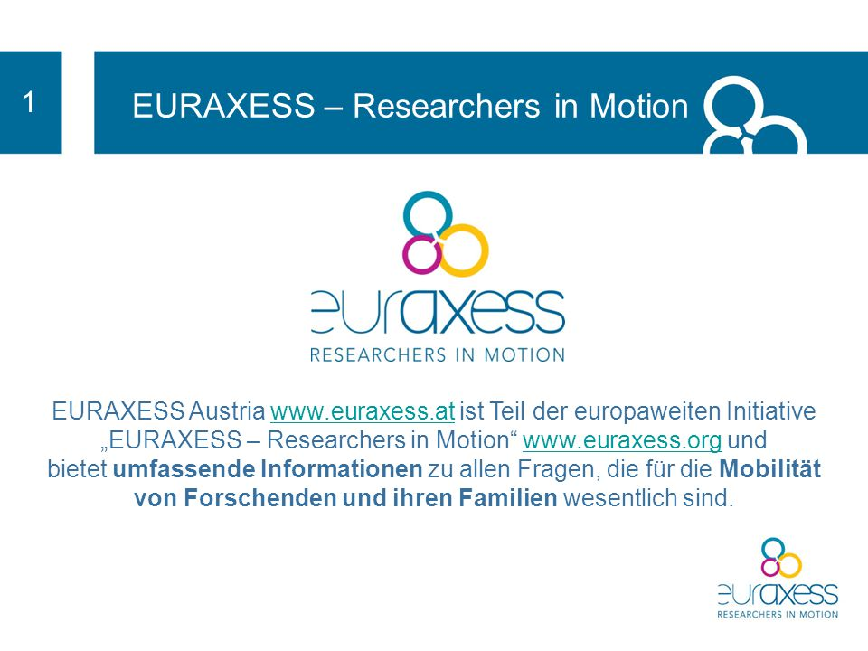 EURAXESS – Researchers in Motion EURAXESS Austria www.euraxess.atwww.euraxess.at