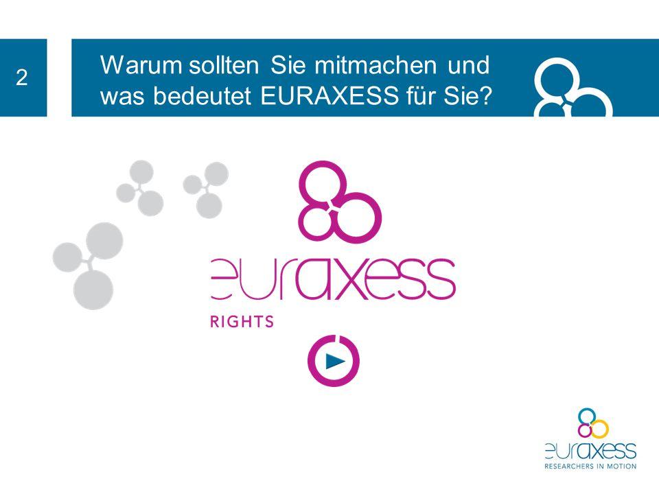 Warum sollten Sie mitmachen und was bedeutet EURAXESS für Sie? 2 EURAXESS Services 150 000 Mobilitätsbezogene Probleme / Jahr Forschende erfragen Unte