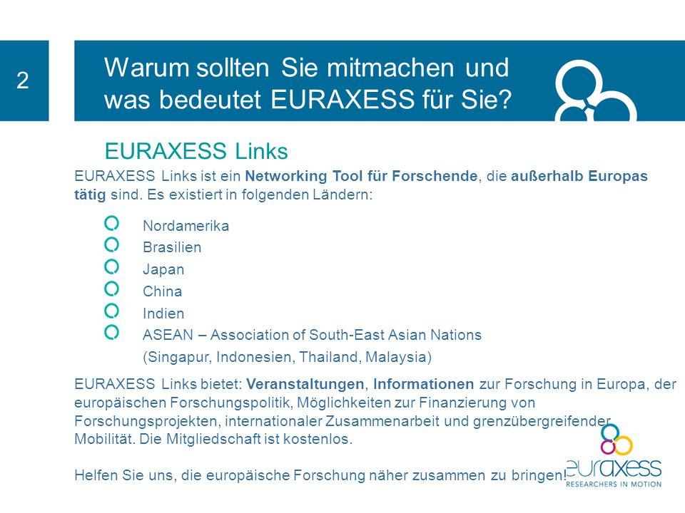 Warum sollten Sie mitmachen und was bedeutet EURAXESS für Sie? 2 EURAXESS Rights Durch die Anwendung einer Reihe von Vorschriften: Wird Ihre Organisat