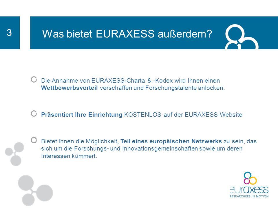 EURAXESS ist innovativ weil: es als zentrale Beratungsstelle fungiert und Informationen aus ganz Europa zu den Themen Personalbeschaffung, Visa-Beantragung, Arbeits- genehmigungen, Sozialversicherung und anderen relevanten Fragen bietet.