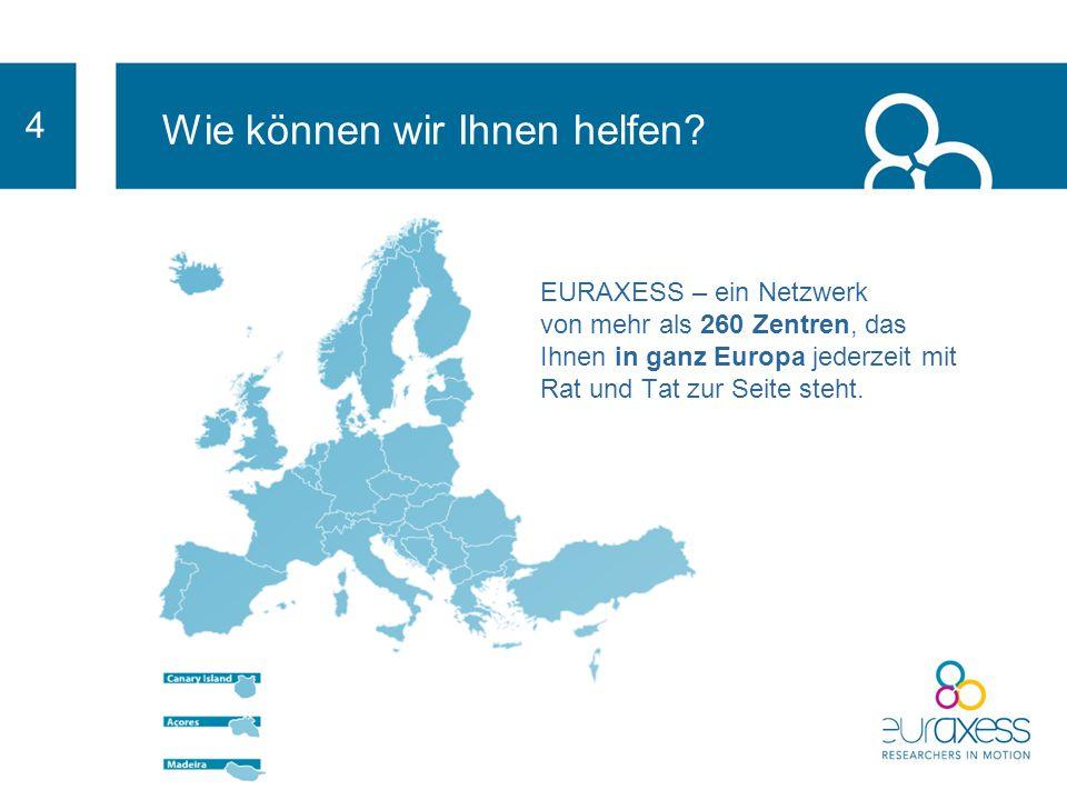 3 Die Annahme von EURAXESS-Charta & Kodex wird Ihnen einen Wettbewerbsvorteil verschaffen und Forschungstalente anlocken. Präsentiert Ihre Einrichtung