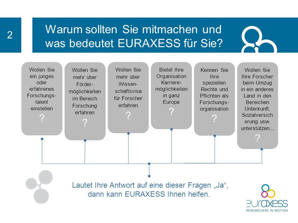 EURAXESS : Das Netzwerk bietet individuelle Unterstützung Erleichtert Ihnen das Leben als Forschungsorganisation durch die Beratung zu verwaltungstech