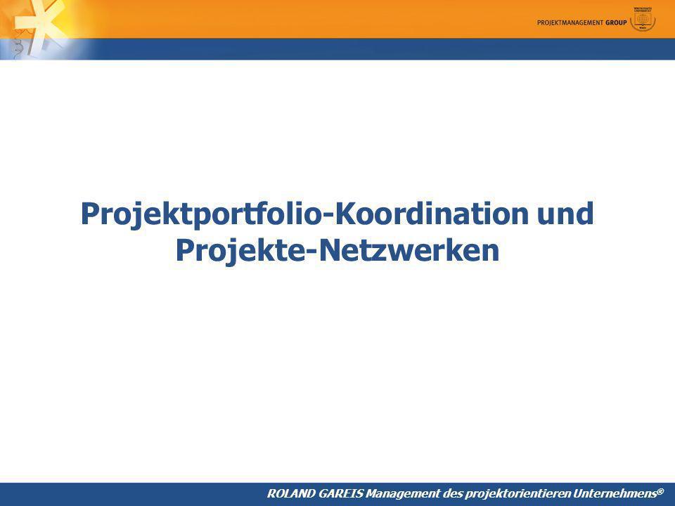 ROLAND GAREIS Management des projektorientieren Unternehmens ® Projektportfolio-Koordination und Projekte-Netzwerken
