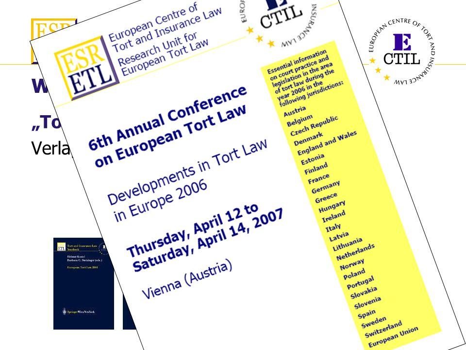 6. Int. Konferenz InterEurope AG European Law Service Wien, 14. September 2006 Schadensersatz in Europa 9 Wer sind wir? Tort and Insurance Law Yearboo