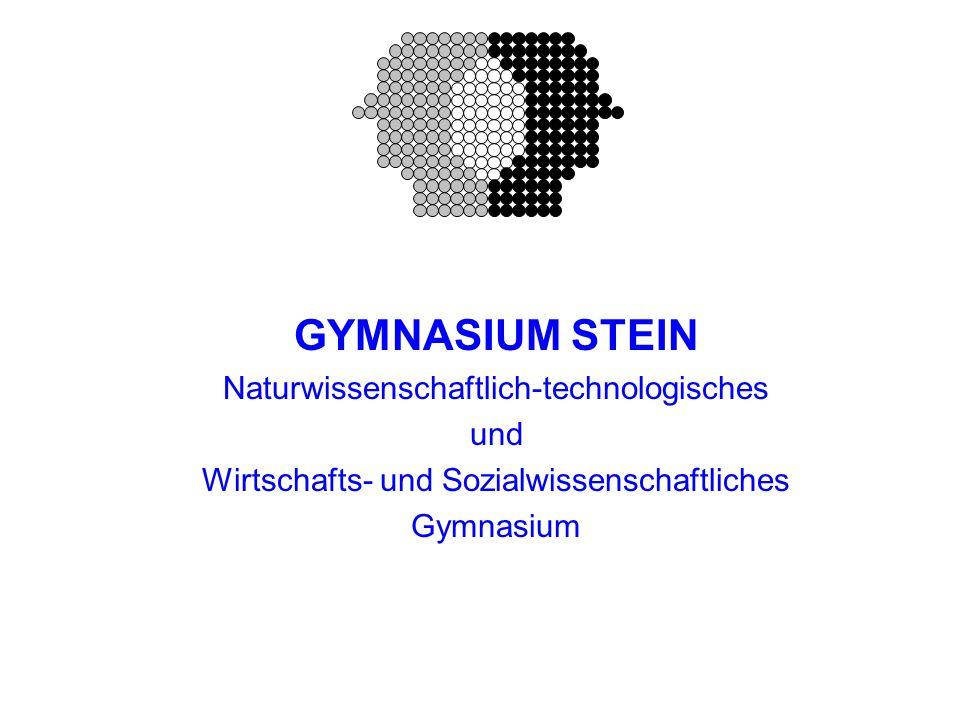 GYMNASIUM STEIN Naturwissenschaftlich-technologisches und Wirtschafts- und Sozialwissenschaftliches Gymnasium