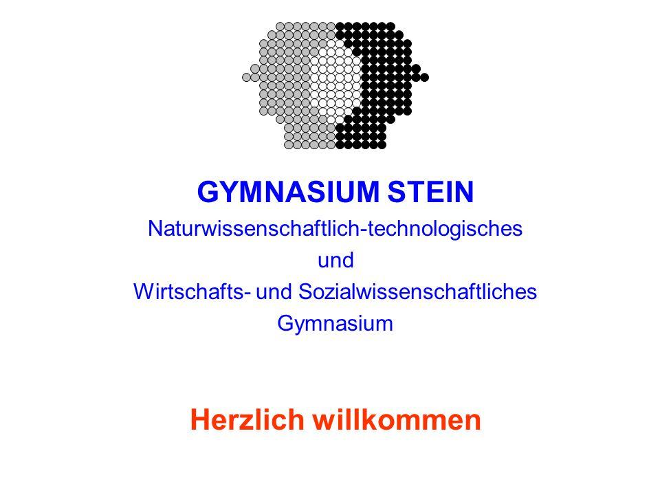 GYMNASIUM STEIN Naturwissenschaftlich-technologisches und Wirtschafts- und Sozialwissenschaftliches Gymnasium Herzlich willkommen