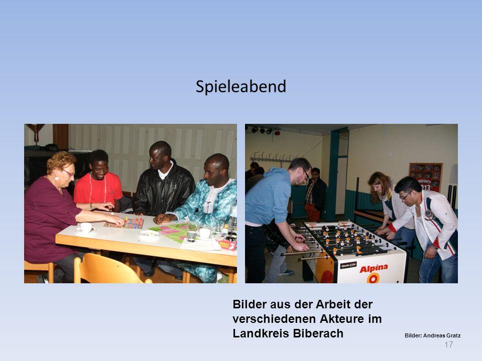 Spieleabend 17 Bilder aus der Arbeit der verschiedenen Akteure im Landkreis Biberach Bilder: Andreas Gratz