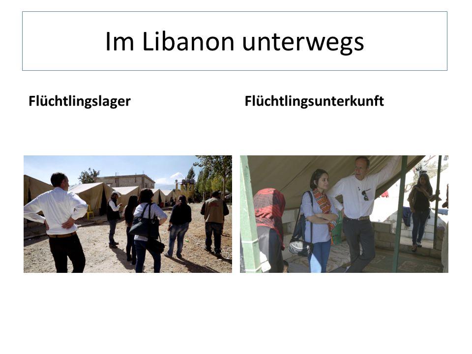 Im Libanon unterwegs FlüchtlingslagerFlüchtlingsunterkunft