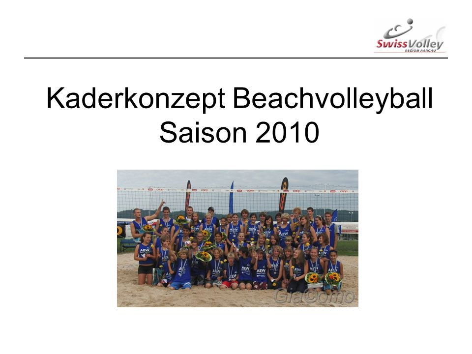 Kaderkonzept Beachvolleyball Saison 2010