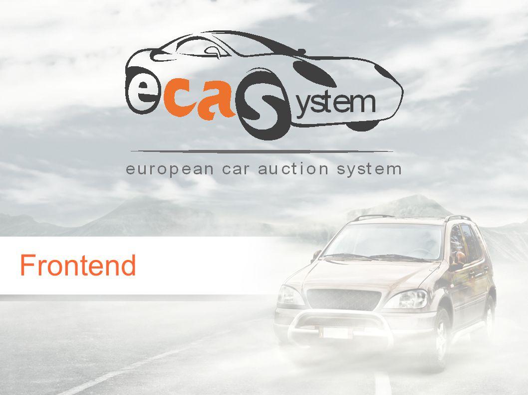 Weitere Information zu ECAS finden Sie unter: www.eca-system.net Vielen Dank für Ihre Aufmerksamkeit