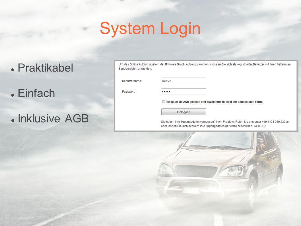 System Login Praktikabel Einfach Inklusive AGB
