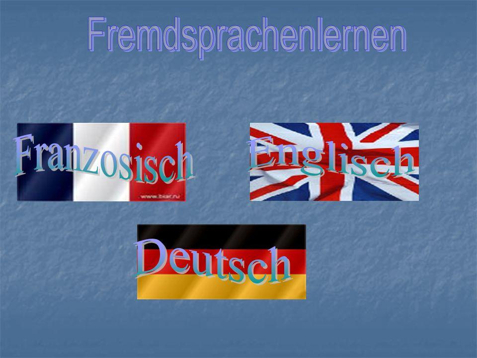 -Welche Fremdsprachen lernt man in eurer Schule.Wie lange.